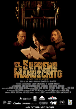 Cartel de El supremo manuscrito.